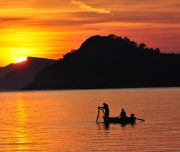 Elaphiti Sipan sunset fishermen