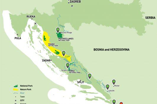 Best of Croatia Multisport map