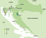 Cycling Tour of Istria map
