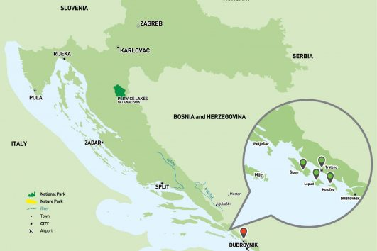 Sea Kayaking Dubrovnik map