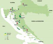 Croatia National Parks Holiday map