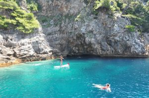Kolocep Blue Cave SUP and swimming