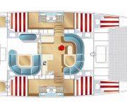 Huck Finn catamaran layout