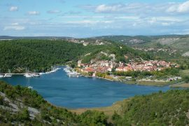Rivers by the Sea Skradin Croatia view