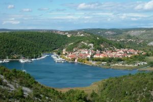 Skradin view from the hilltop