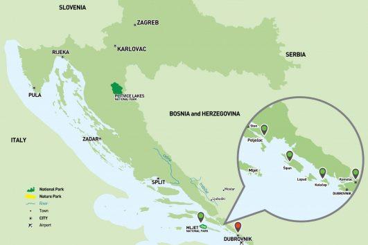 Dubrovnik Sailing Holiday Map