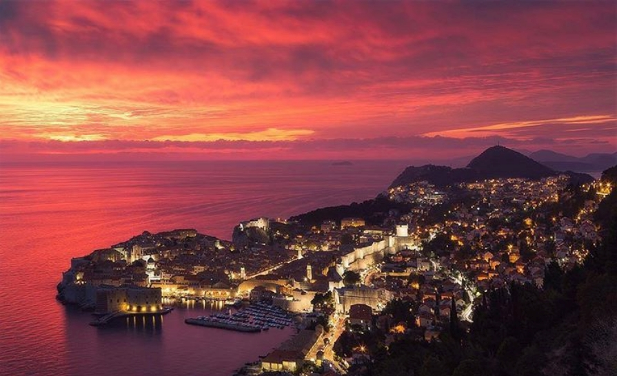 Dubrovnik beautiful sunset