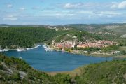 Skradin town and marina