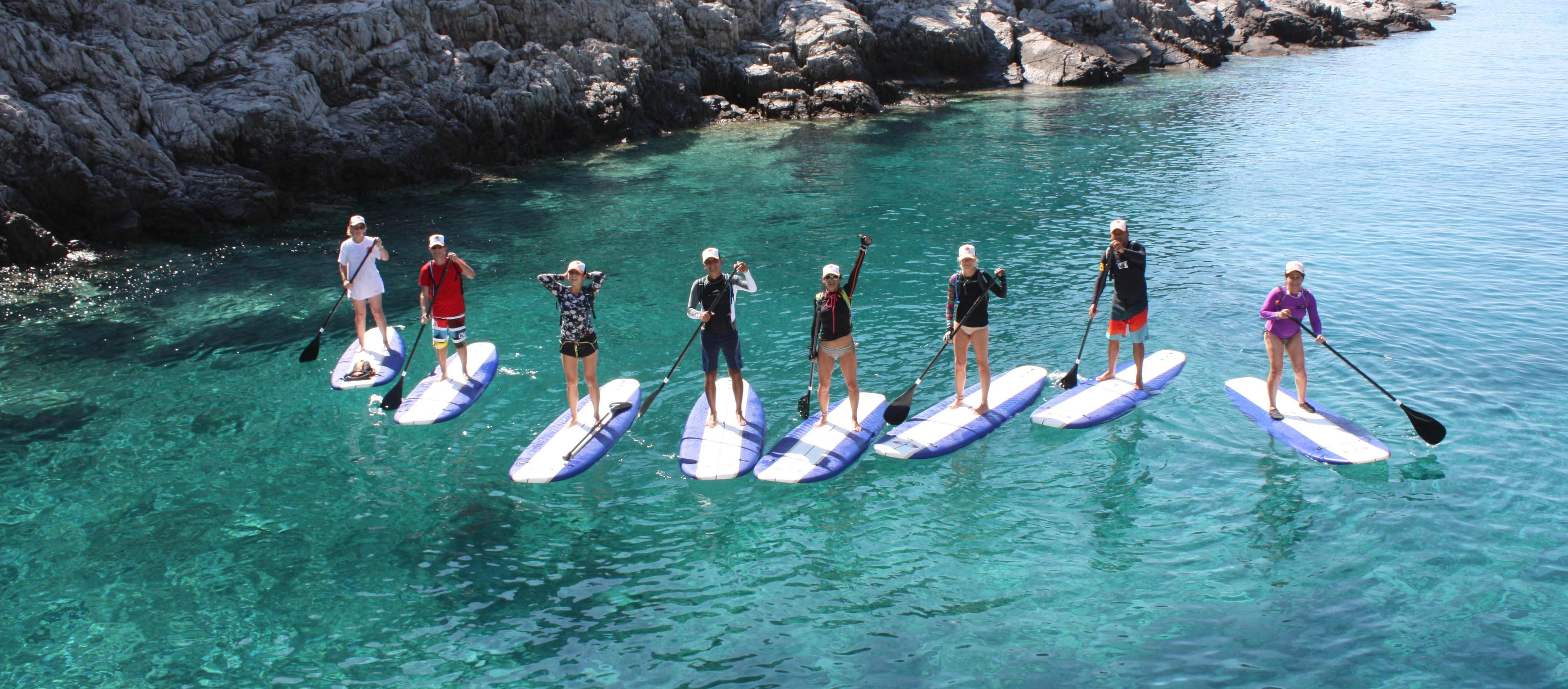 SUP in Croatian sea