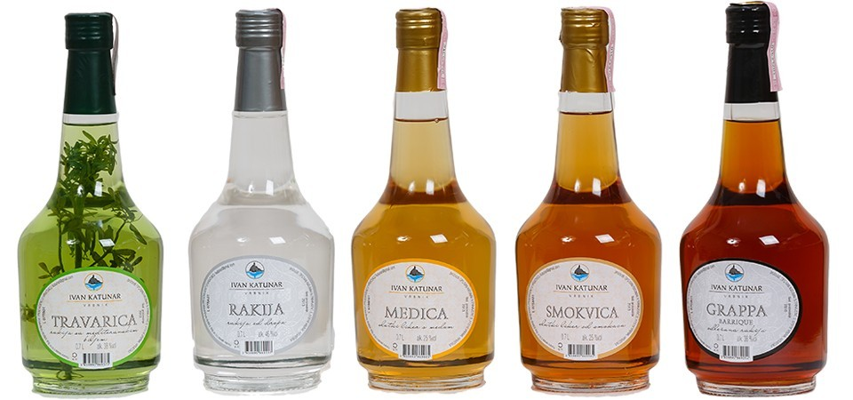 Rakija souvenir from Croatia
