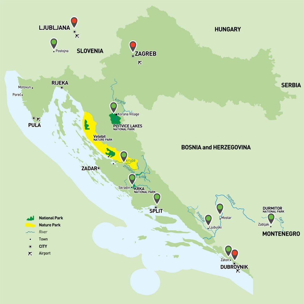 Croatia, Montenegro, Slovenia, Bosnia and Herzegovina Adventure