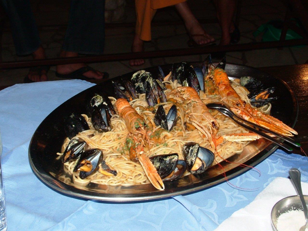 Croatian traditional sea food.